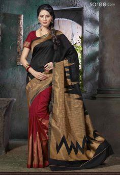 BLACK AND MULTI COLOR ART SILK SAREE WITH WEAVING WORK   #Saree #Silksarees #Sari #Indianfashion #fashionIndia #sareelover #georgettesaree #IndianWear #Ethnicwear #IndianEthnicwear