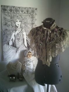 wedding shrug wedding capelet victorian costume steampunk costume LAYAWAY LAYBY available