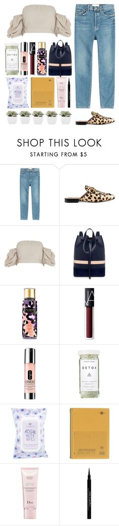 """6.085"" by katrinattack ❤ liked on Polyvore featuring The Great, Gucci, River Island, Mother of Pearl, Victoria's Secret, NARS Cosmetics, Clinique, Herbivore, Charlotte Russe and Christian Dior"