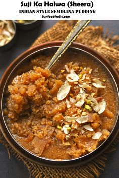 Easy Indian Sweet Recipes, Indian Dessert Recipes, Sweets Recipes, Ethnic Recipes, Simple Indian Sweets Recipe, Diwali Recipes, Indian Recipes, Semolina Pudding, Diwali Food