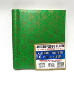 Vintage Jumbo Green and Gold Photo Album by MidniteGalaxyVintage #1970s #70s #retro #vintage #vintagetravel #etsy