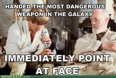 Hahaha Star Wars Meme, Film Star Wars, Star Trek, Luke Skywalker, Le Retour Du Jedi, The Force Is Strong, Humor Grafico, Love Stars, Obi Wan