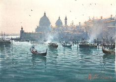 Watercolor Landscape Paintings, Watercolor Paintings, Emigrate To Australia, Joseph Zbukvic, In His Time, Grand Canal, He Is Able, Alexandria, Watercolors