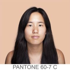Which Pantone Are You? A Closer Look at Skin Color. http://humanae.tumblr.com/