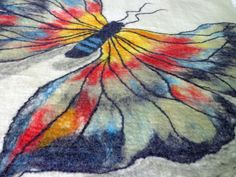 Butterfly  Felted Wall hanging  Rug or a Baby by RowanTreeShop, $252.00