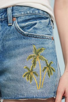 Levi's 501 Palm-Embroidered Shorts | Anthropologie