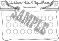 'i can learn to tie shoelaces' achievement chart