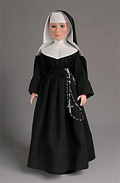 "Blessings Nun Dolls | ... worn by Audrey Hepburn as Sister Luke in the film, ""The Nun's Story"