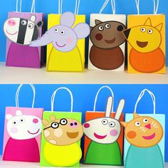 Peppa Pig Friends Favor Bag – Simply Made with Sam Fiestas Peppa Pig, Cumple Peppa Pig, Peppa Pig Birthday Cake, 3rd Birthday, Peppa Pig Cakes, Peppa Pig Bag, Rebecca Rabbit, Pig Crafts, Birthday Party Decorations
