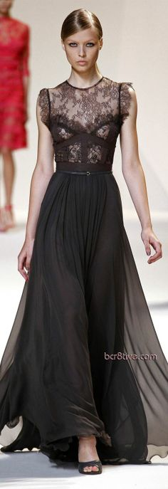 #elie Saab Spring Summer 2013. Would have loved more if top was more solid fabric than lace.