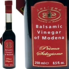 vinegars from modena italy
