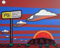 Rock Star by Adam (aka Blak Douglas) Hill at the Australian Aboriginal Art Directory Gallery. Aboriginal Artists, Aboriginal People, Adam Hills, Australian Artists, Sign Language, Urban Art, New Image, Landscape Paintings, Illustration Art