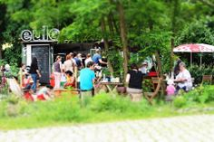 berlin ist eine der grünsten Großstädte Europas >> Berlin: Cafe Eule, Westpark am Gleisdreieck; Kuchen, Kaffee, Tartes, Suppen | Bionade Ausgehtip