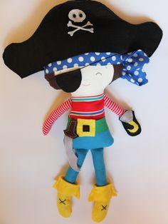El pirata Buenapata, muñeco de trapo, Niños y bebé, Juguetes