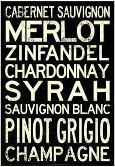 Poster para a varanda - Wine Grape Types Art Print Poster Pôsters na AllPosters.com.br