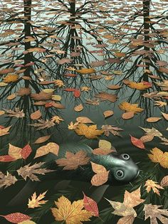 Goldfish - Vintage Art Explosion! by M. C. Escher (I know - it's a koi, not a goldfish (: couldn't resist posting it anyway)