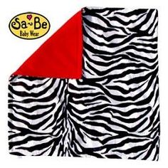 Zebra blanket - Red Beautiful zebra print blanket75cm x 75cm, a good size for a pushchair, cot or pram blanket, or small playmatBright vibrant red plush anti-p