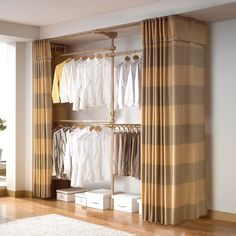 31 Trendy Ideas For Bedroom Closet Doors Curtains Wardrobes 31 Trendy Ideas For Bedroom Closet Doors Curtains Wardrobes Bedroom Closet Storage, Bedroom Closet Doors, Bedroom Closet Design, Closet Designs, Bedroom Decor, Curtain Wardrobe, Curtains For Closet Doors, Ideas Armario, Small Closets