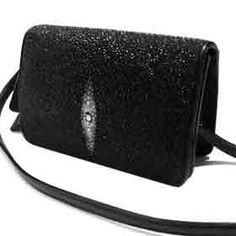 Stingray Leather Clutch Bag w/ Removable Strap $29.99