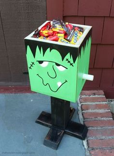 DIY Halloween Project! Here's a #DIY Frankenstein Candy Box on Ryobi Nation
