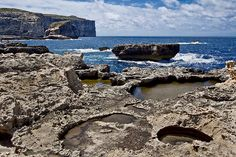 Fungus Rock on the far side of this bay on Gozo was named for a prized fungus, used by the Knights of Malta for wounds and medicinal purposes