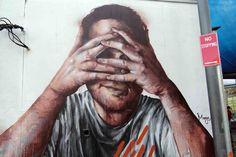 Fintan Magee – New Mural In Redfern, Australia