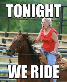 The Very Best Of The Grandma On Horse. .......she scares me.... would hate to meet her in battle://