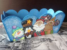 Caja-charola amigos navidad Christmas
