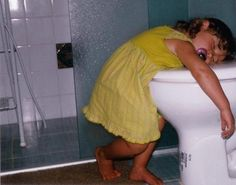 They often fall asleep on or near toilets. | 26 Reasons Kids Are Pretty Much Just Tiny Drunk Adults
