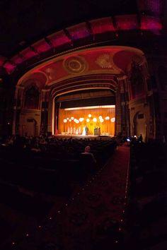 Theater wedding....loooove the lanterns!!!! @Brittany Horton Mackie