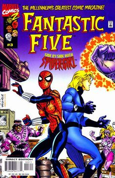 Marvel Team-Up, the next generation: Spider-Girl and an older Human Torch against the Wizard's new muggles! The future of Spider heroes.