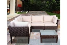 Infinity 6-Pc Wicker Patio Set, Espresso | One Kings Lane