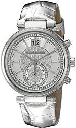 online shopping for Michael Kors Women's Sawyer Silver-Tone Watch from top store. See new offer for Michael Kors Women's Sawyer Silver-Tone Watch Grey Leather, Michael Kors Watch, House Clearance, Clearance Sale, Crystal, Chronograph, Female Watches, Analog Watches