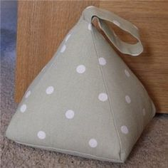 Fabric Door Stop (Sage Green with White Spots) - DSTP-SGS : Mon Ami Crafts Ltd