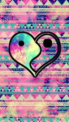 Tribal heart grunge galaxy wallpaper I created for the app CocoPPa! #CocoPPa #tribal