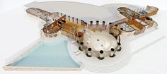 Gallery of Explore Frank Lloyd Wright's Curvaceous Unbuilt House Design for Marilyn Monroe - 3