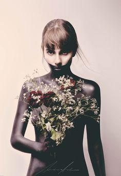 Portraits flowers black  https://www.facebook.com/PhotographieSebastianSchueler