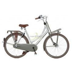 "#Cortina #fiets #Transport #28"" #D57 #aluminium #brushed #fietsen #dames"