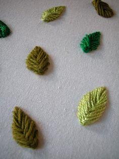 Raised Herringbone Stitch Tutorial - Sarah Whittle