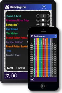 3 girl scout cookie apps- one for booths, one for family and one for leader.