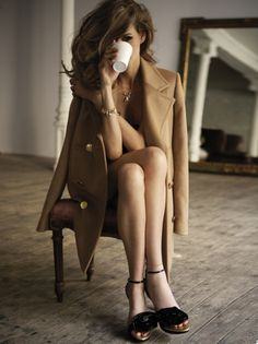 #Classic #Camel trench. So European.