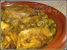 Tajine de poulet au citron confit & olives