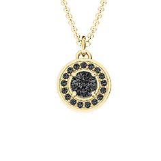 Halo and Accents Pendant - gold and black diamonds - such a cool combo! #blackdiamond  #jewlr