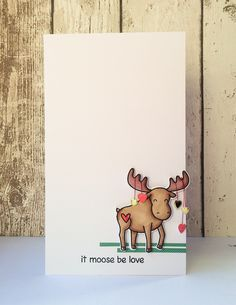 It Moose be Love I Moose Love You Be My Valentine Card
