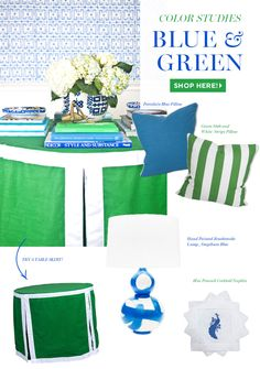 {Color Studies} Experiment with new Blue & Green pieces for the fall!