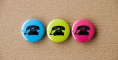 Telephone Magnet Set 3 by TheOrangeCircle on Etsy, $5.00