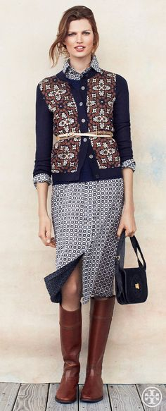 Pattern-On-Pattern | Tory Burch Pre-Fall