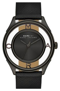 I LOVE this watch. I've never see anything like it! Black Marc by Marc Jacobs Watch