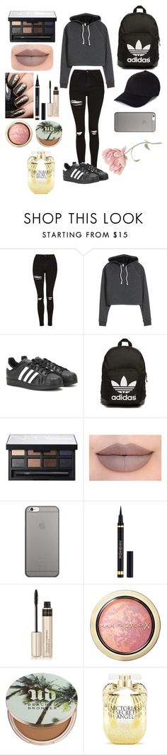 """Untitled #27"" by teensfashioncloset ❤ liked on Polyvore featuring Topshop, adidas, adidas Originals, NARS Cosmetics, Jeffree Star, Native Union, Yves Saint Laurent, By Terry, Max Factor and Urban Decay"
