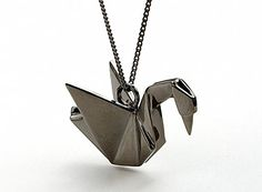 origami swan necklace. since swans mate for life this would be a very romantic gift
